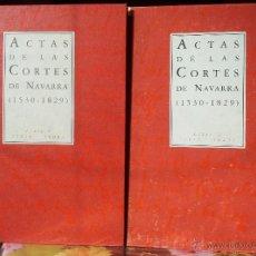 Libros antiguos: ACTAS DE LAS CORTES DE NAVARRA (1530 - 1829), 2 VOLS.. Lote 46414026