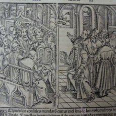 Libros antiguos: GRABADO MEDIEVAL 1520. HOJA DEL MEJOR IMPRESO XVI. DÉCADAS DE TITO LIVIO. ZARAGOZA COCI. 1520. Lote 46535520