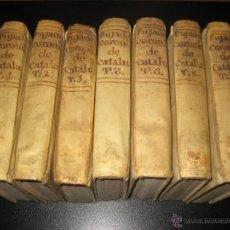 Libros antiguos: LA CORONICA DE CATALUÑA - GERONIMO PUJADES - TRADUCIDO POR PEDRO ANGEL TARAZONA - 1790 . Lote 47297229