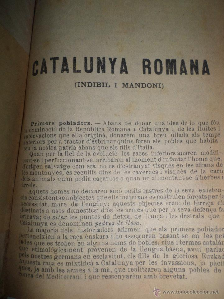 Libros antiguos: La Novel.la Histórica. Historia de Cataluña, encuadernada, en catalan. Desde orígenes a 1917. - Foto 4 - 47401896