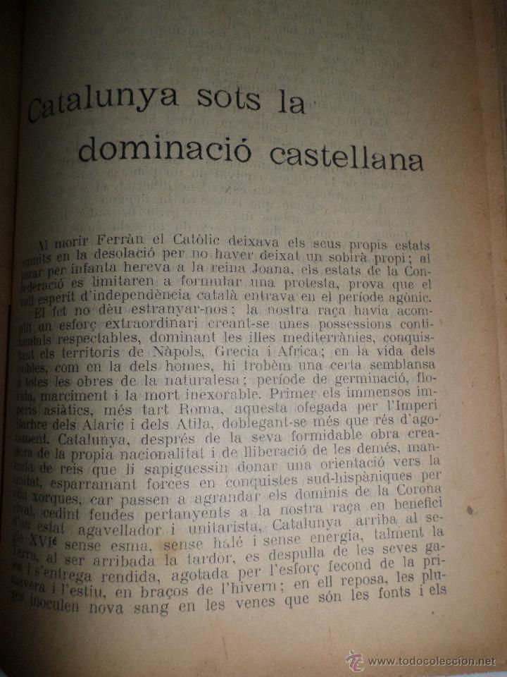 Libros antiguos: La Novel.la Histórica. Historia de Cataluña, encuadernada, en catalan. Desde orígenes a 1917. - Foto 11 - 47401896