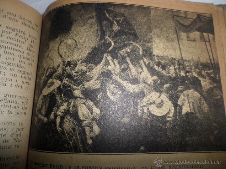 Libros antiguos: La Novel.la Histórica. Historia de Cataluña, encuadernada, en catalan. Desde orígenes a 1917. - Foto 12 - 47401896