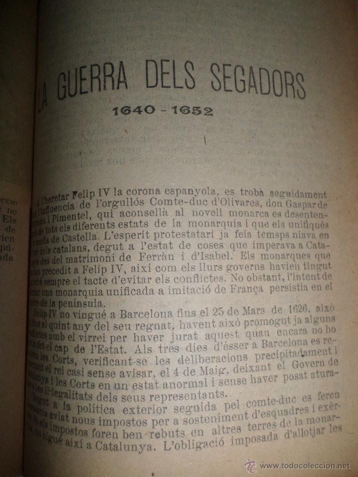 Libros antiguos: La Novel.la Histórica. Historia de Cataluña, encuadernada, en catalan. Desde orígenes a 1917. - Foto 13 - 47401896