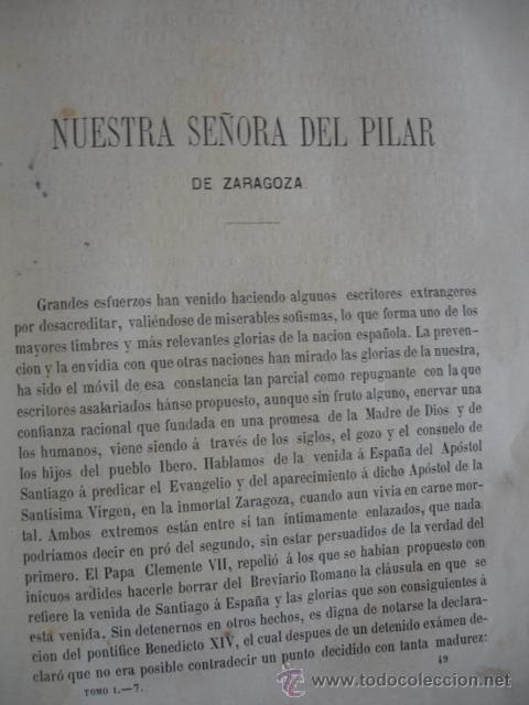 Libros antiguos: HISTORIA DE NUESTRA SEÑORA DEL PILAR DE ZARAGOZA . AÑO 1866. 32 PG.4ª.UNA LITOGRAFIA - Foto 2 - 47708510