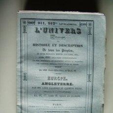 Libros antiguos: 1842-HISTORIA DE INGLATERRA.ENGLAND.TUDOR Y ESTUARDO.UNIVERSO PINTORESCO.FIRMIN DIDOT.PARÍS. Lote 47747374