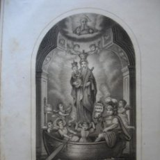 Libros antiguos: HISTORIA DE NUSTRA SEÑORA DE LA BARCA.MUGIA.CORUÑA .AÑO 1866.4ª.12 PG + 1 LITOGRAFIA.. Lote 47776809