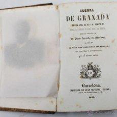 Libros antiguos: GUERRA DE GRANADA, DIEGO HURTADO DE MENDOZA, BARCELONA 1842. 12X17CM. Lote 48277518