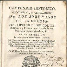 Old books - COMPENDIO HISTORICO. Madrid 1772 - 48312787