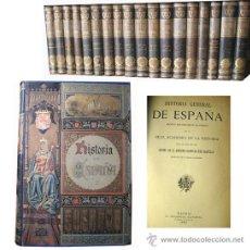 Libros antiguos - HISTORIA GENERAL DE ESPAÑA (18 volúmenes) CANÓVAS DEL CASTILLO Antonio (dir) 1892 - 48376108
