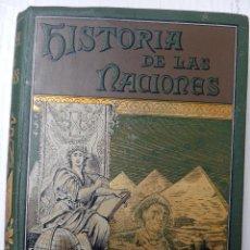 Libros antiguos: LIBRO HISTORIA DEL ANTIGUO EGIPTO , HISTORIA DE LAS NACIONES, RAWLINSON ,1891 , 3ª EDICION ORIGINAL. Lote 117103480