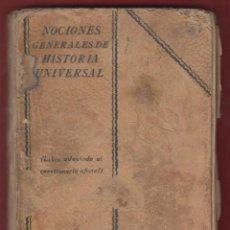 Libros antiguos: NOCIONES GENERALES DE HISTORIA UNIVERSAL-JOSE MUNDO--EDIT.RAZON Y FE-MADRID-LH95. Lote 48641971