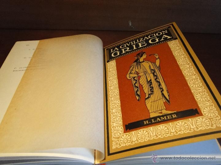 Libros antiguos: CIVILIZACIONES ANTIGUAS ORIENTE GRIEGA Y ROMANA.-HUNGER, J. y LAMER, H. - Foto 3 - 133687034