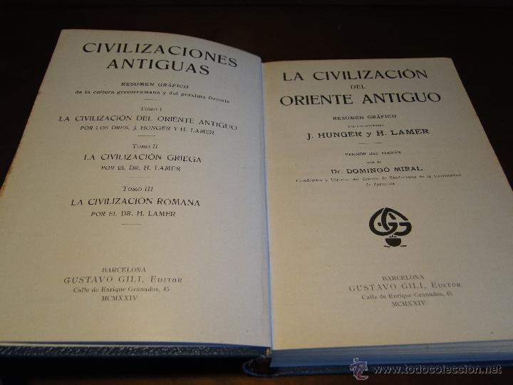 Libros antiguos: CIVILIZACIONES ANTIGUAS ORIENTE GRIEGA Y ROMANA.-HUNGER, J. y LAMER, H. - Foto 5 - 133687034