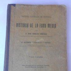 Libros antiguos: 3 LIBROS. HISTORIA EDAD ANTIGUA-HISTORIA EDAD MEDIA-HISTORIA EDAD MODERNA DE A. RETORTILLO Y TORNOS. Lote 49699832