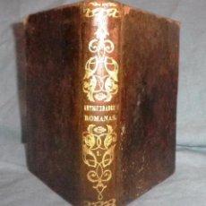 Libros antiguos: ANTIGUEDADES ROMANAS - AÑO 1845 - HEINECCIO.. Lote 49704008