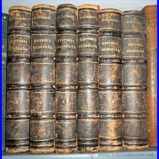 Libros antiguos: AÑO 1867. HISTORIA DE ESPAÑA Y DE SUS INDIAS. 6 TOMOS ILUSTRADOS DEL SIGLO XIX. 25X17 CM.. Lote 50045766