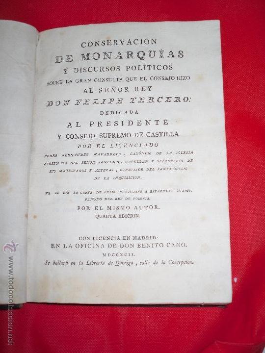 DON FELIPE TERCERO REY DE ESPAÑA 1623 AL 1618 CONCERVACION DE LAS MONARQUÍAS (Libros antiguos (hasta 1936), raros y curiosos - Historia Antigua)