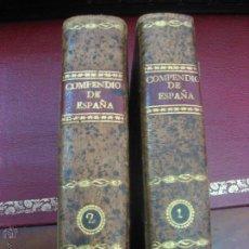 Libros antiguos: COMPENDIO DE LA HISTORIA DE ESPAÑA 2 TOMOS. MADRID. 1806.. Lote 50189138