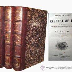 Alte Bücher - HISTOIRE DU RÈGNE DE GUILLAUME II MACAULAY, T.B. 1857 - 50394555