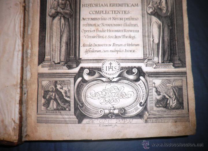 Libros antiguos: VITAE PATRUM - AÑO 1617 - VIDAS DE LOS PATRIARCAS - IN FOLIO - MUY RARO. - Foto 7 - 50631243