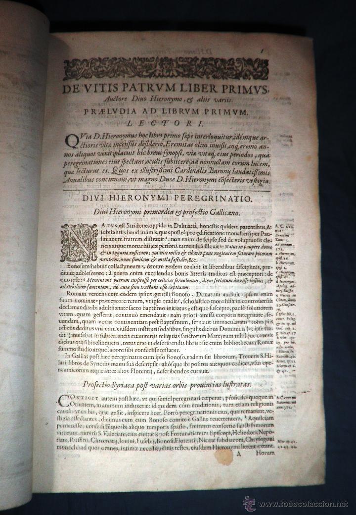 Libros antiguos: VITAE PATRUM - AÑO 1617 - VIDAS DE LOS PATRIARCAS - IN FOLIO - MUY RARO. - Foto 16 - 50631243