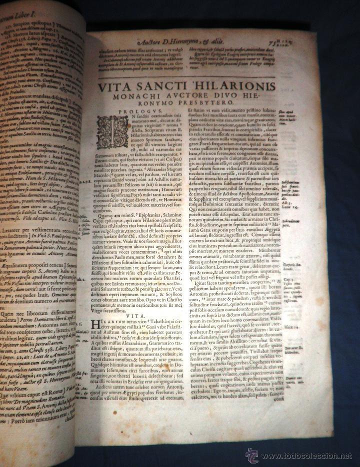 Libros antiguos: VITAE PATRUM - AÑO 1617 - VIDAS DE LOS PATRIARCAS - IN FOLIO - MUY RARO. - Foto 17 - 50631243