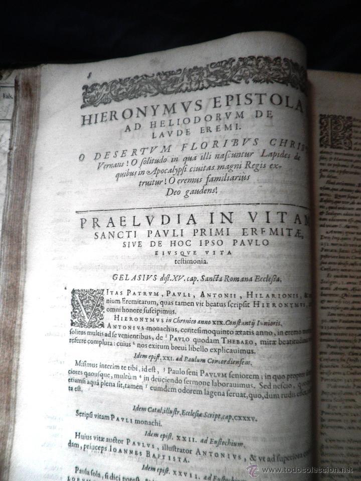 Libros antiguos: VITAE PATRUM - AÑO 1617 - VIDAS DE LOS PATRIARCAS - IN FOLIO - MUY RARO. - Foto 19 - 50631243