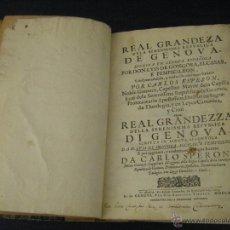 Libros antiguos: LIBRO REAL GRANDEZA DE LA SERENISSIMA REPUBLICA DE GENOVA, LUIS DE GONGORA MADRID AÑO 1669. Lote 50868258