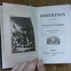 Libros antiguos: HISTORIA DE AMÉRICA 1492-1836. LE ROBERTSON DE LA JEUNESSE: HISTOIRE D'AMÉRIQUE (1843). GRABADOS.. Lote 50868533