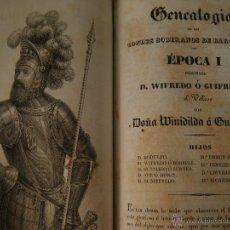 Libros antiguos: LOS CONDES DE BARCELONA VINDICADOS. TOMO I. BARCELONA 1836.. Lote 50934089
