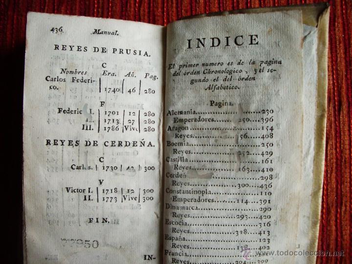 Libros antiguos: 1788-MANUAL HISTORICO, CRONOLOGICO Y GEOGRAFICO DE REINOS Y REYES DE EUROPA.EUGENIO LARRUGA.ORIGINAL - Foto 5 - 65765455