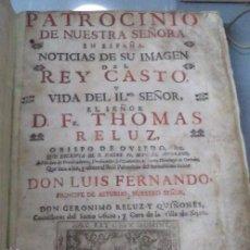 Libros antiguos: OVIEDO,1719,ASTURIAS,EXCEPCIONAL,TRES PARTES EN UN SOLO TOMO,REY CASTO,TOMÁS RELUZ,LEER. Lote 51371132