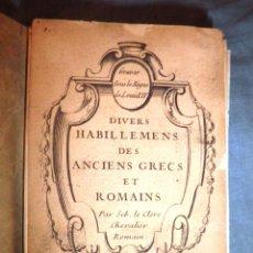 Alte Bücher - EL VESTIDO EN LA ANTIGUA GRECIA Y ROMA - AÑO 1790 - BELLA COLECCION DE PLANCHAS. - 51672716