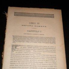 Libros antiguos: HISTORIA GENERAL DE ESPAÑA / MIGUEL MORAYTA / 1890 / ESPAÑA ROMANA / LIBRO III. Lote 51789969
