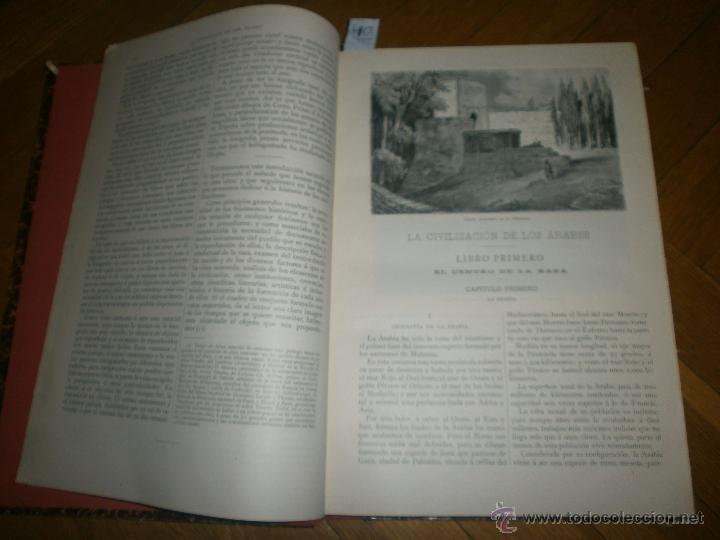 Libros antiguos: LA CIVILIZACIÓN DE LOS ARABES por Gustavo Le Bon. MONTANER Y SIMON EDITORES, 1886 - Foto 3 - 51924410