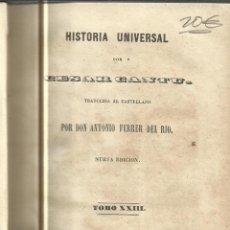 Libros antiguos: HISTORIA UNIVERSAL. CESAR CANTU. MELLADO EDITOR. MADRID. 1849. TOMO XXIII. Lote 52027827