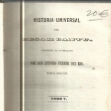 Libros antiguos: HISTORIA UNIVERSAL. CESAR CANTU. MELLADO EDITOR. MADRID. 1847. TOMO V. Lote 52028043