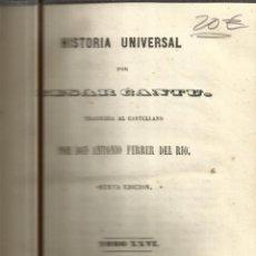 Libros antiguos: HISTORIA UNIVERSAL. CESAR CANTU. MELLADO EDITOR. MADRID. 1849. TOMO XXVI. Lote 52028257