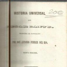 Libros antiguos: HISTORIA UNIVERSAL. CESAR CANTU. MELLADO EDITOR. MADRID. 1848. TOMO XIV. Lote 52028421