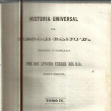 Libros antiguos: HISTORIA UNIVERSAL. CESAR CANTU. MELLADO EDITOR. MADRID. 1847. TOMO IV. Lote 52028528
