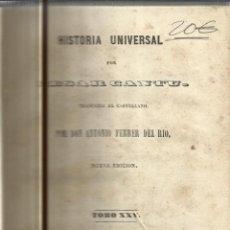 Libros antiguos: HISTORIA UNIVERSAL. CESAR CANTU. MELLADO EDITOR. MADRID. 1849. TOMO XXV. Lote 52028821