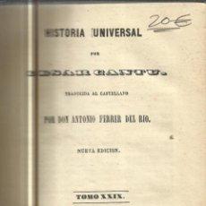 Libros antiguos: HISTORIA UNIVERSAL. CESAR CANTU. MELLADO EDITOR. MADRID. 1849. TOMO XXIX. Lote 52028922