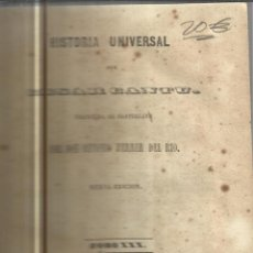 Libros antiguos: HISTORIA UNIVERSAL. CESAR CANTU. MELLADO EDITOR. MADRID. 1849. TOMO XXX. Lote 98722928