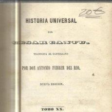 Libros antiguos: HISTORIA UNIVERSAL. CESAR CANTU. MELLADO EDITOR. MADRID. 1848. TOMO XX. Lote 52028993