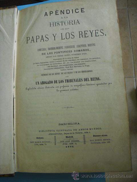 Libros antiguos: Historia de los papas y los reyes, 2 tomos el 3, 1870, y el 4, 1871,con ilustraciones, - Foto 2 - 52724402