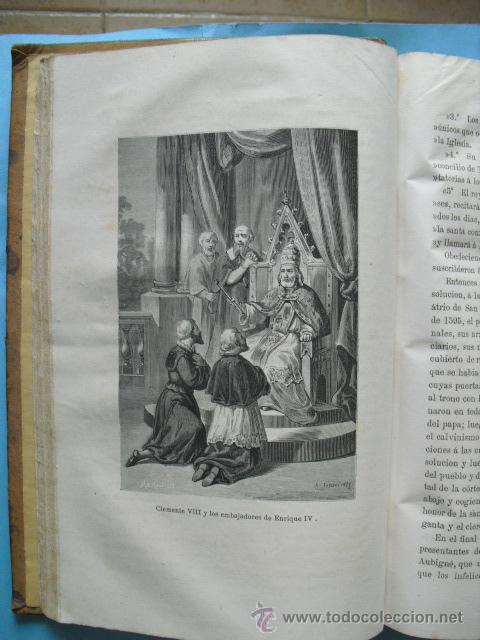 Libros antiguos: Historia de los papas y los reyes, 2 tomos el 3, 1870, y el 4, 1871,con ilustraciones, - Foto 7 - 52724402