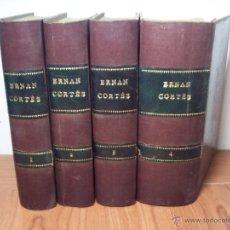 Libros antiguos: HERNAN CORTÉS /DESCUBRIMIENTO Y CONQUISTA DE MEJICO (4 TOMOS) COMPLETA - 1869. Lote 52895592