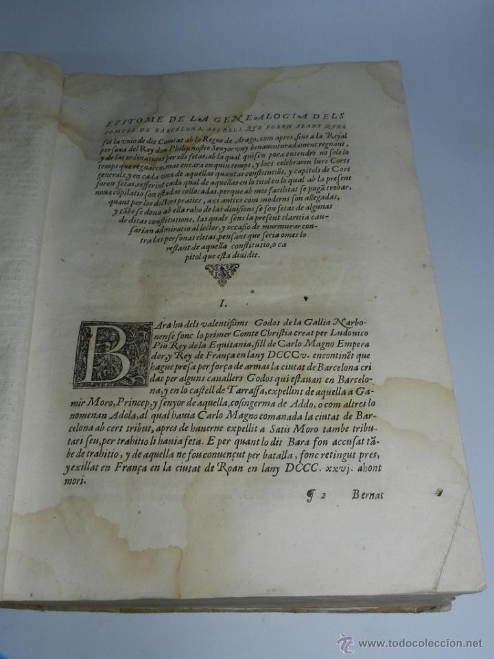 Libros antiguos: CONSTITUCION DE CATALUÑA 1588, CONSTITVTIONS I ALTRES DRETS DE CATHALUNYA COMPILATS EN VIRTUT DEL CA - Foto 3 - 52953789
