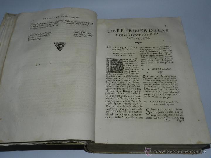 Libros antiguos: CONSTITUCION DE CATALUÑA 1588, CONSTITVTIONS I ALTRES DRETS DE CATHALUNYA COMPILATS EN VIRTUT DEL CA - Foto 4 - 52953789