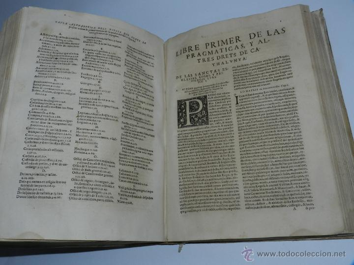 Libros antiguos: CONSTITUCION DE CATALUÑA 1588, CONSTITVTIONS I ALTRES DRETS DE CATHALUNYA COMPILATS EN VIRTUT DEL CA - Foto 7 - 52953789